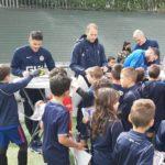 Ecole de foot – Les enfants ont rencontré leurs idoles
